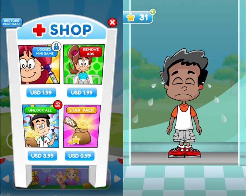 A screenshot from Bubadu's Doctor Kids.