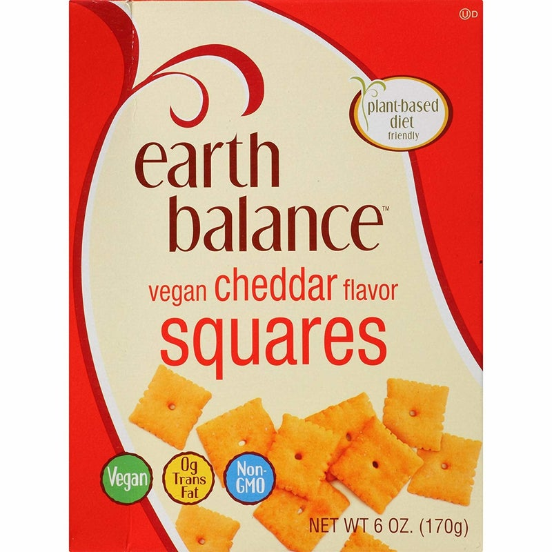 """""""Earth Balance cheddar squares taste just like Cheez-Its. So flavourful and buttery and addictive!""""—laurens4f3d72397"""