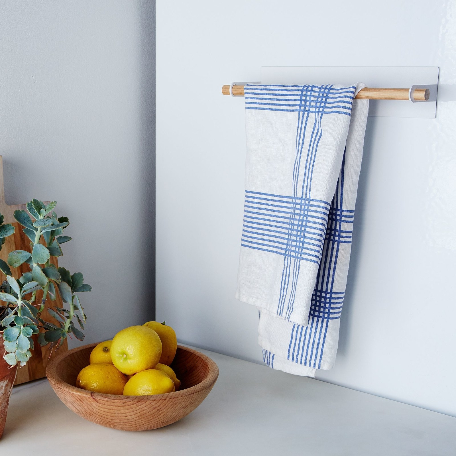 67ca96e10f A magnetic towel rack perfect for space savers (hello tiny kitchens) and  those that want to display their super cute hand towels.