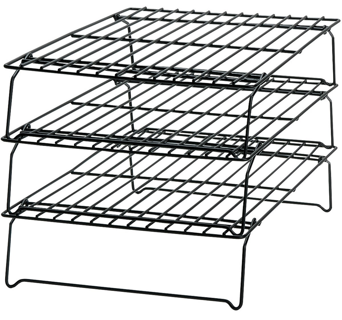 """Promising review: """"I received this set as a gift, and I'm very pleased with it. I love to bake big batches of cookies, but have limited counter space for cooling. This stacking rack does the job very well. It has also served the same purpose for craft projects, when painted or glued items need some flat drying time."""" —MzMeyerGet it from Walmart for $10.47 (originally $15.96)."""