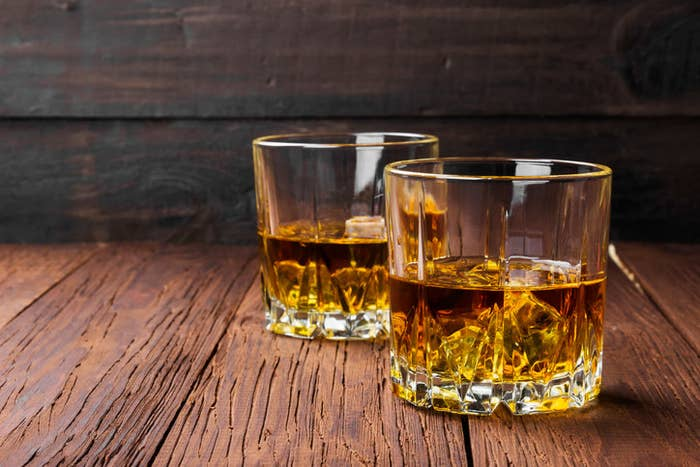 Whiskey is a distilled spirit made from grain. Once the alcohol has been extracted, it's placed in wooden containers for some period of time to help it mature.