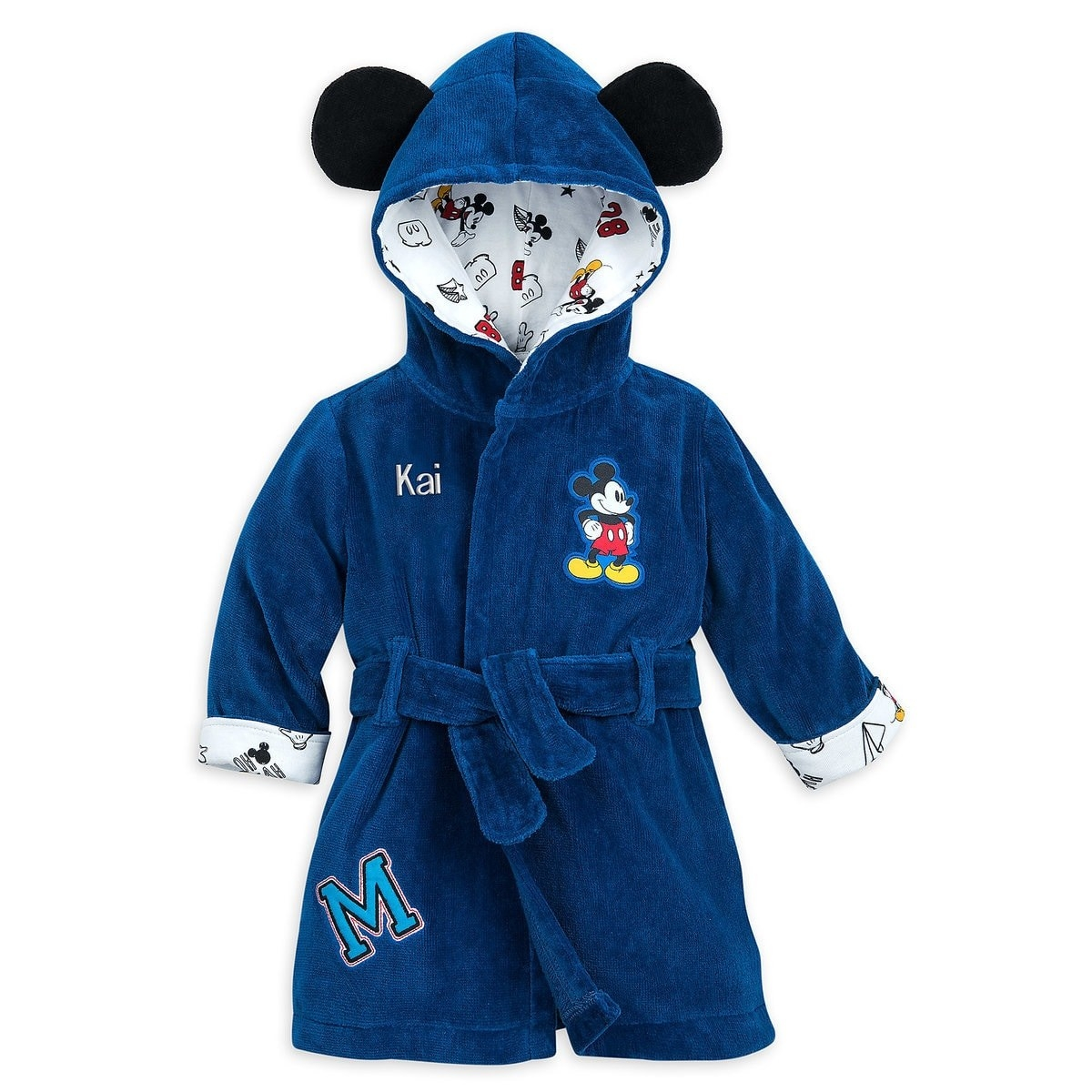 1e398da4480c This hooded Mickey Mouse robe that will make baby's first bath one to  remember.