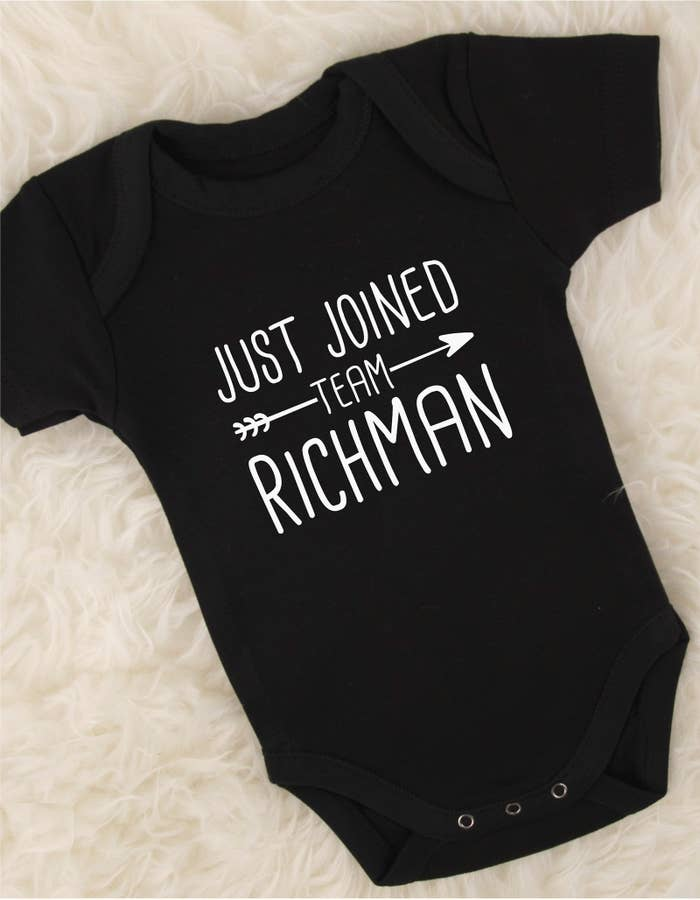 3b58181d6 This personalized onesie to show the world you have a new member of your  squad.