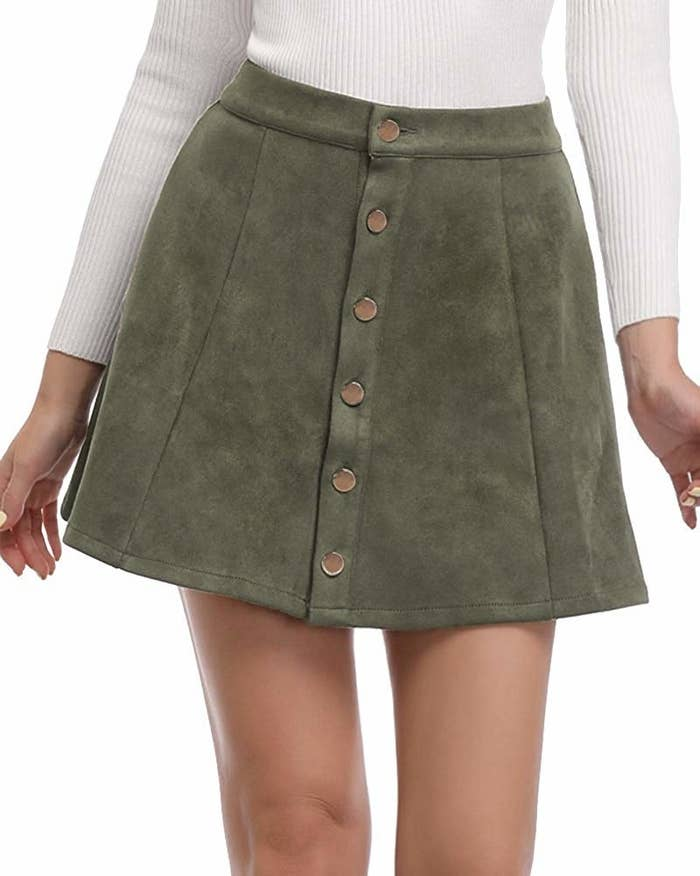 24c508279a630 23. An A-line button-down miniskirt you might be ~suede~ to buy more than  one of. Get a different color for each day of the week!