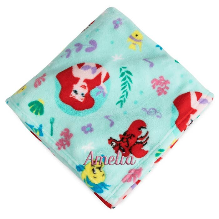 e1f8a65a595 A personalized Little Mermaid blanket to announce your newborn is  officially