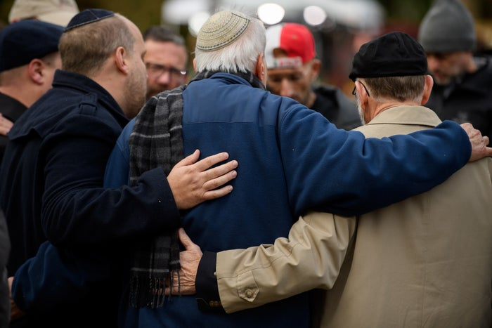 Prayers at a memorial on Monday.
