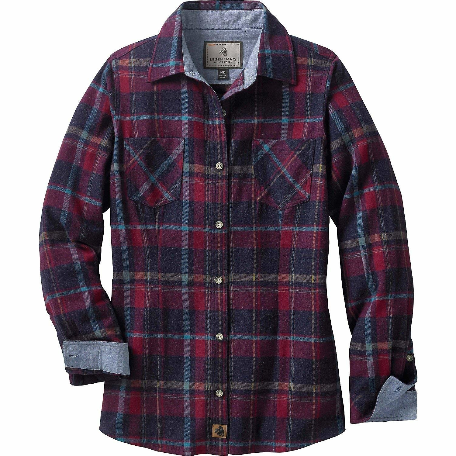 1770e8220c4 A classic, boxy-fit flannel shirt upgraded with chambray lining at the  collar and cuffs.