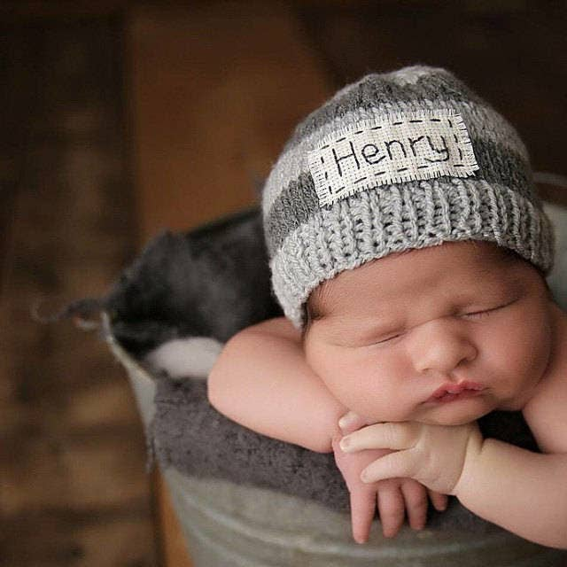 5c4731fa630b A personalized hat that parents can use to bring home their new bundle of  joy — because there are few things as precious as seeing a chunky