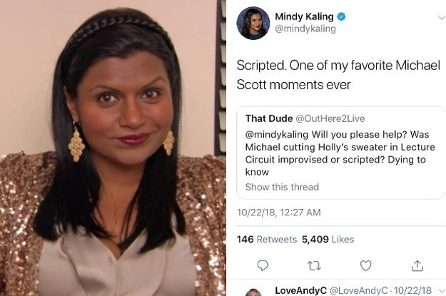 16 Things Mindy Kaling Has Revealed About The Office On Twitter