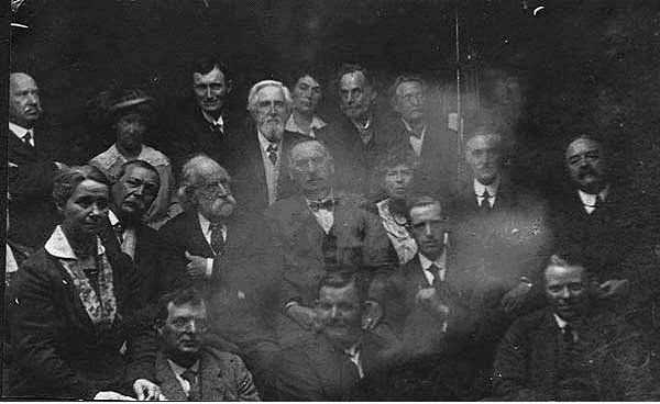 Spirit photograph by William Hope of the annual meeting of the Society for the Study of Supernormal Pictures in 1922.