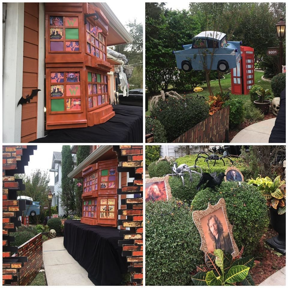 This Family Completely Transformed Their Home Into Diagon Alley For Halloween And It Is WILD