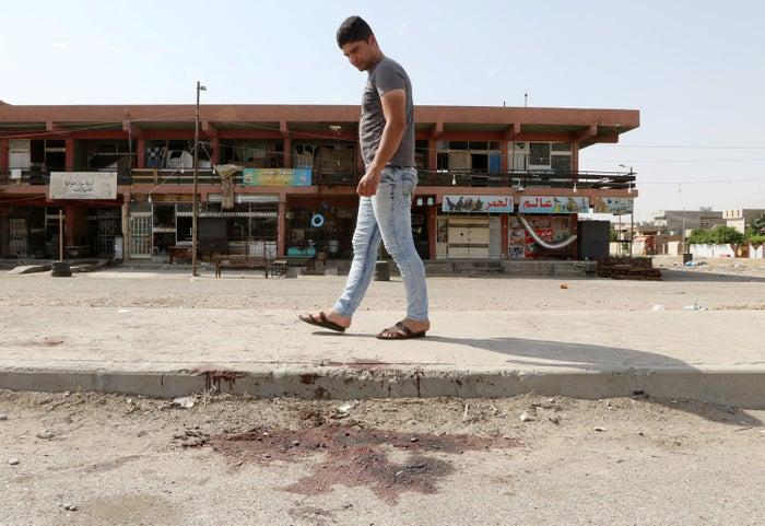 Bloodstains in Kirkuk in June.