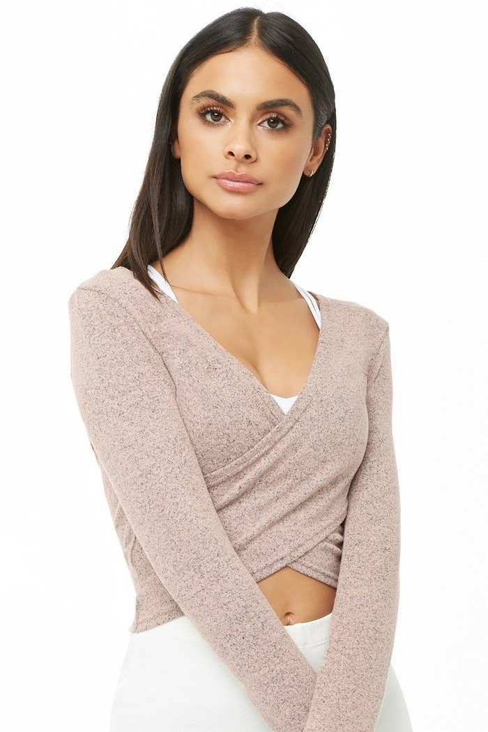 c951f7b10f A marled top you'll look totally posh in during your next barre class.