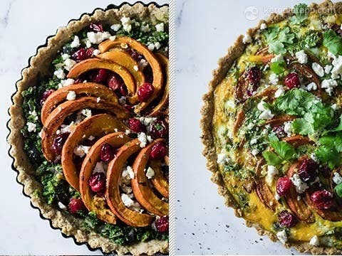 Save this gorgeous sweet 'n' savory tart for a special occasion...like a Saturday when it's too cold to go out. The leftovers will last up to a month in the freezer so don't feel like you have to share it with anyone. Get the recipe here.