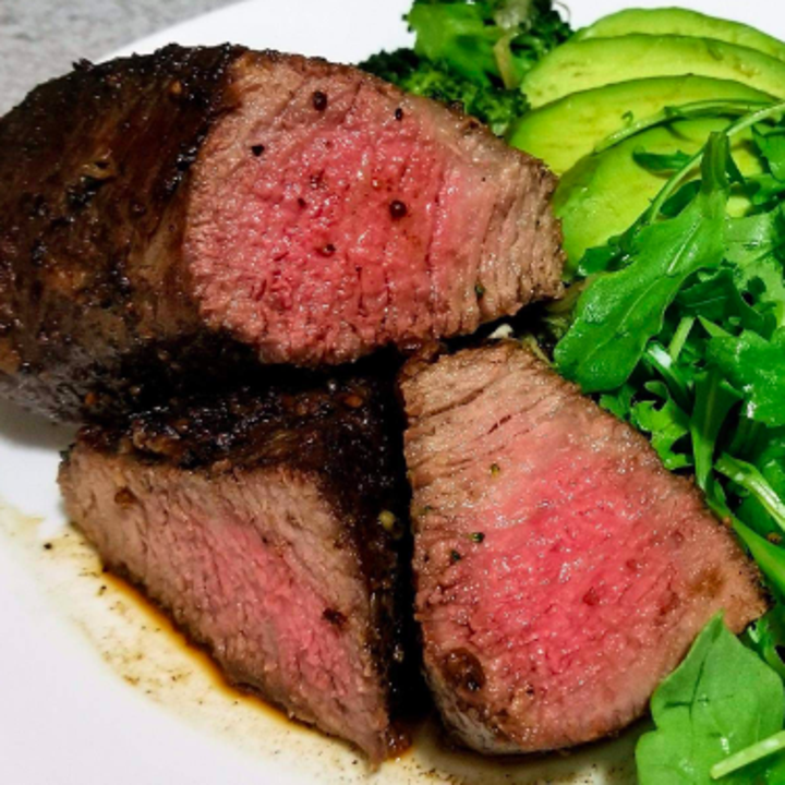 reviewer's steak made using the sous vide tool