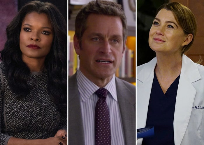 From left: The Good Night, Younger, and Grey's Anatomy.