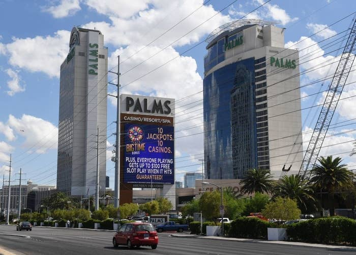 The Palms Casino Resort in Las Vegas, the location of the now-closed Rain nightclub, where Ronaldo and Mayorga met on June 13, 2009.