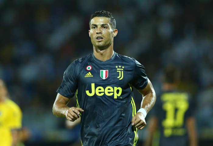 Cristiano Ronaldo playing for Juventus in September.