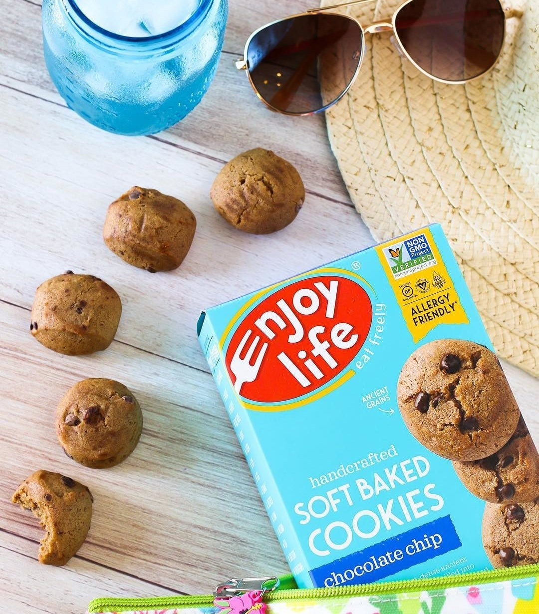 """Comes with six boxes, and 12 cookies per box. These are also verified non-GMO, allergy-friendly, certified gluten-free, kosher, and halal. They're free of gluten, wheat, peanuts, dairy, tree nuts, soy casein, sulfites, egg, lipin, sesame, fish, mustard, crustaceans, and shellfish. Promising review: """"I had serious doubts about such a cookie, but these suckers are SOFT and DELICIOUS! In fact, I prefer these to normal unhealthy cookies. These fit my vegan diet and appease my desire for sweets! These are flippin' amazing!"""" —jordan hooverPrice: $21.90"""