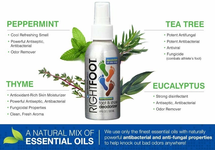 """Promising review: """"This stuff is amazing! I have hyperhidrosi and ruin all of my shoes, especially my flats and my running shoes. I started using this daily, spraying this spray liberally on the bottom of my feet after showering and in my shoes right after I take them off. I noticed a difference after just one use! Plus, I love that it's made from natural ingredients. This will change your life!"""" —Amazon Customer Get it from Amazon for $12.82."""