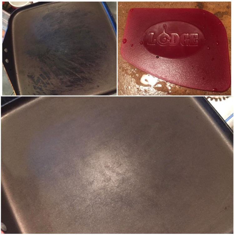 this useful scraper is the ultimate way to clean your cast iron pans. Black Bedroom Furniture Sets. Home Design Ideas