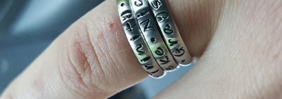 These $15 Engraved Stacking Rings From Amazon Make The Perfect Gift