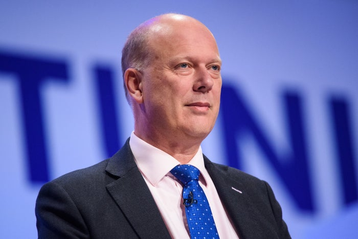 Former justice secretary Chris Grayling.
