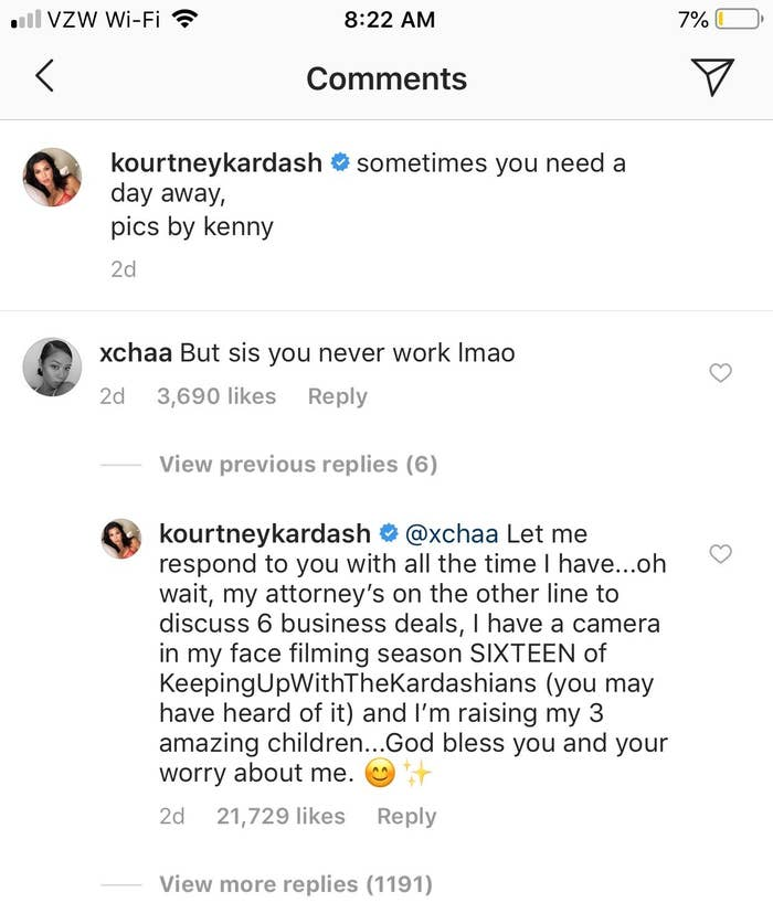 Kourtney Kardashian Had The Best Response To Someone Who