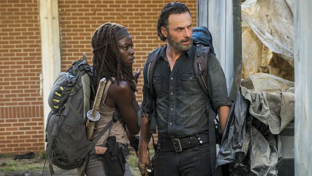 "Danai Gurira said, ""The thing that Michonne learned from day one from Rick is that he figured out how to retain community and retain to connection to people and to take responsibility for people."""