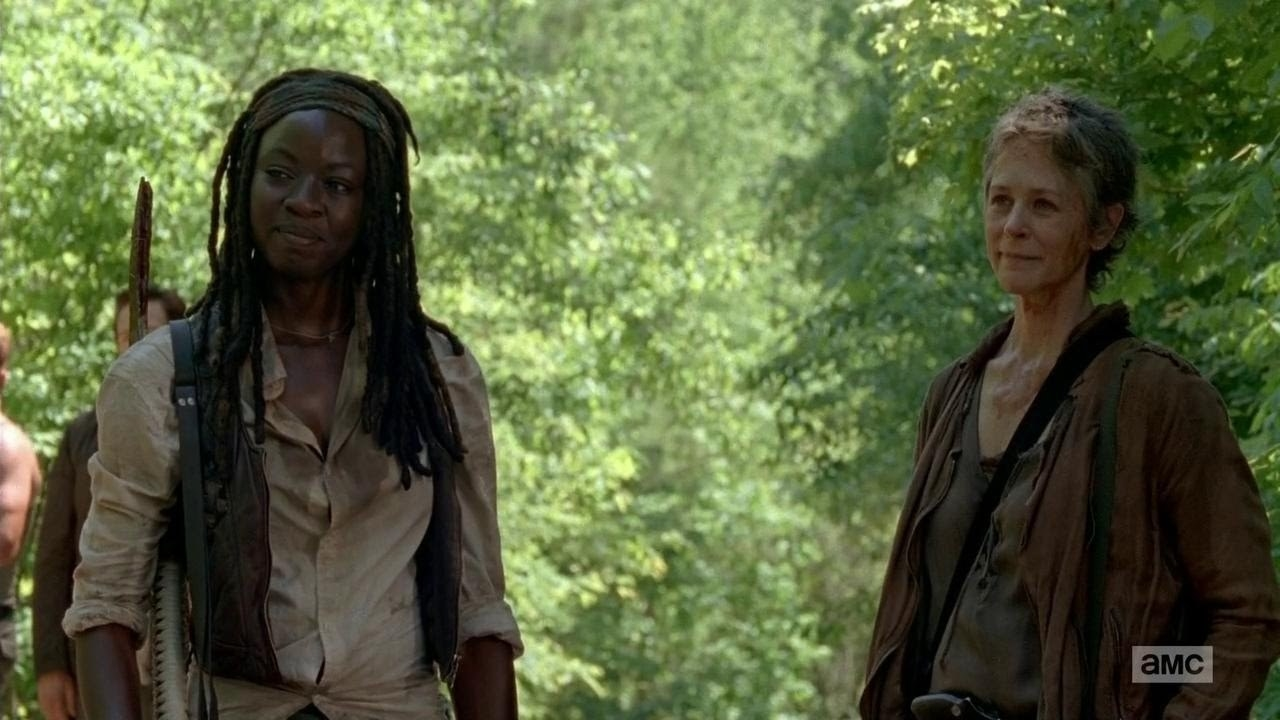 "Danai Gurira and Melissa McBride joked, ""We talked to each other!"""