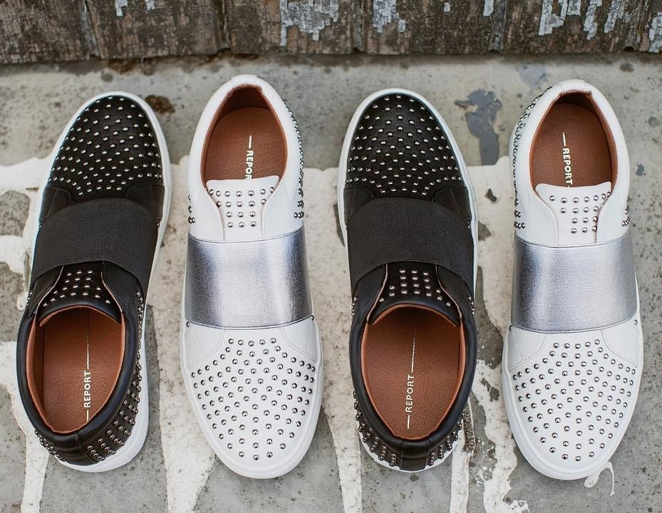 """Promising review: """"I love these! It's a simple slip-on walking shoe, but the studs kick it up a notch. I even bought a pair for my 65-year-old mom!"""" —Shareen CrosbyGet it from Amazon for $14.06+ (available in sizes 5-13 and in two colors)."""