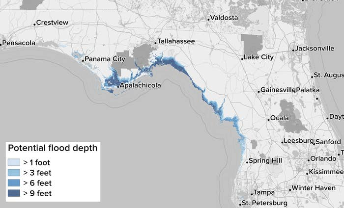 Here's Where Hurricane Michael's Storm Surge May Hit Hardest on