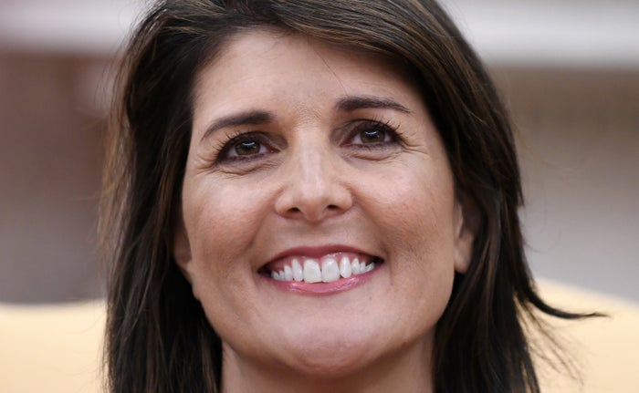 Nikki Haley was all smiles during a meeting with Trump at the White House.