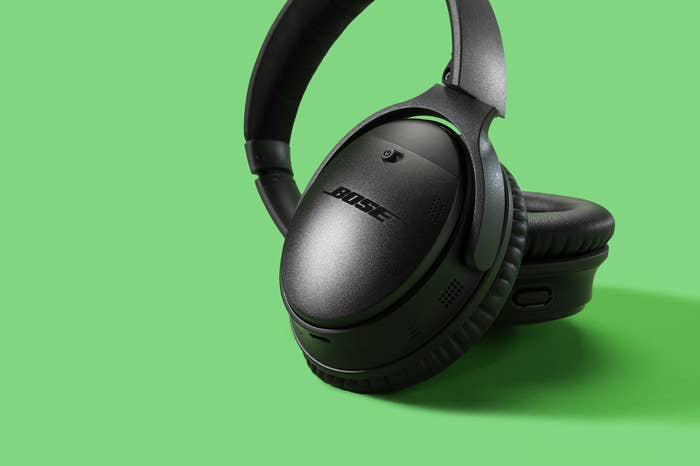 "These cans are our BuzzFeed Reviews pick for best wireless headphones. and they happen to check all those boxes. Plus, they offer a dedicated ""action"" button on the left ear cup that allows users access to Amazon Alexa or Google Assistant without taking out their phone. (Just don't ask it to play ""Free Bird."")"