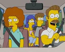 """""""Cuando Homer y Marge eran adolescentes conocían a Ned Flanders, y cuando se mudaron a la casa de al lado de Ned no se habían visto nunca"""".—a4b6d9f613"""