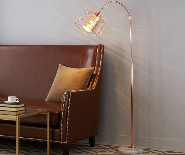 """Promising review: """"The base of the lamp is VERY sturdy and the lamp was easy to assemble. The head doesn't swivel very far but it's a great-looking lamp."""" —AliePrice: $72.45"""