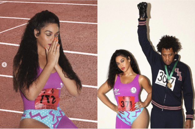 Beyonce And Jay-Z's Halloween Costumes Celebrate Two Olympic Icons And It's Honestly Black Excellence Squared