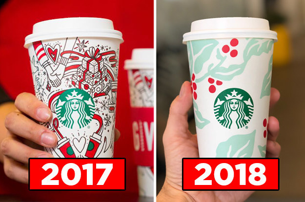 Starbucks Christmas Cups 2019.Starbucks Holiday Cups Are Here And They Re So Pretty And