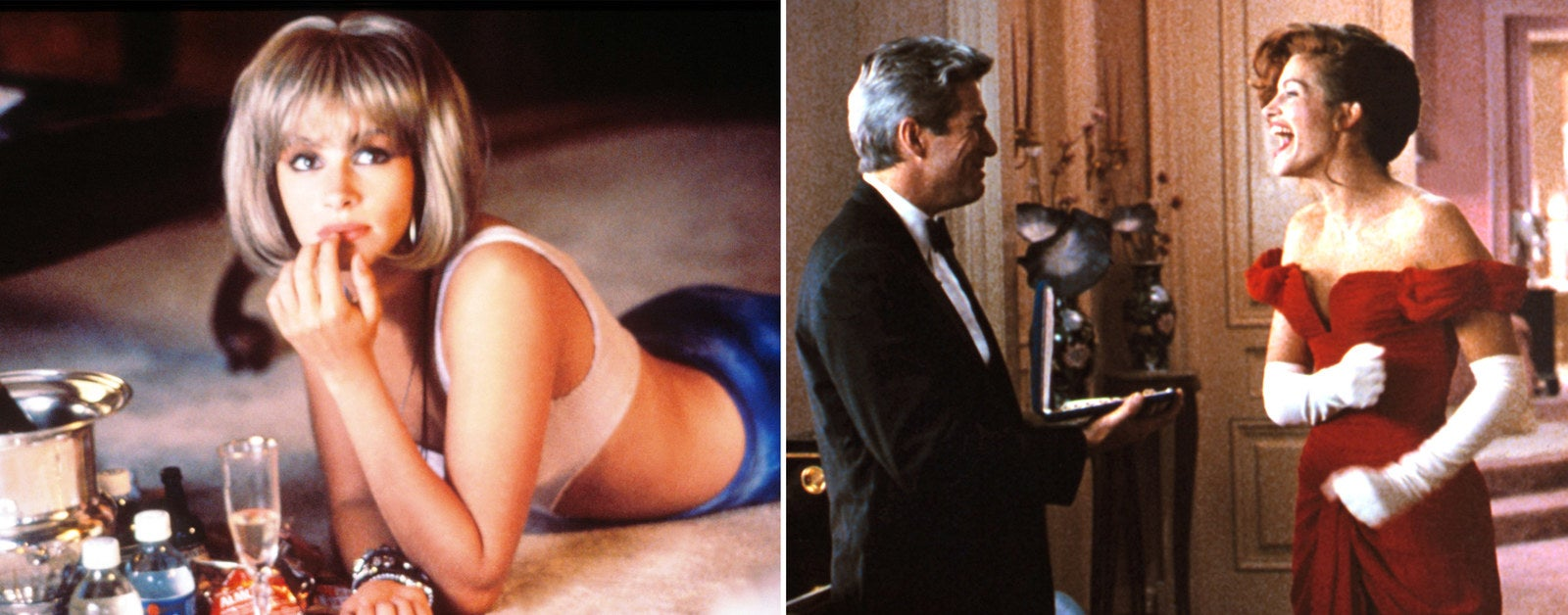 Roberts as Vivian in Pretty Woman, 1990.