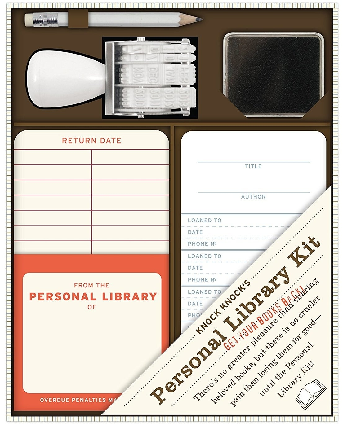 """This nifty kit will guilt all borrowers into actually returning borrowed, weathered copies of The Great Gatsby.Promising review: """"I'm always trying to find interesting gifts for my tween daughter that encourage reading and don't involve screens. This was a HUGE hit. We also bought one for her best friend, and they're both really enjoying it."""" —LizGet it from Amazon for $15.19."""