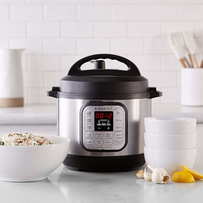 """Serves as a rice cooker, pressure cooker, slow cooker, steamer, sauté, yogurt maker, and warmer.Promising review: """"For the price, this kitchen marvel is an unbeatable cooking monster! You can chop cooking times down to a fraction of what traditional cooking requires, and the features of this machine are almost intimidating. As for the rice cooking feature, which was a big part of my motivation behind this purchase, it was refreshing to know that it uses a stainless steel bowl (refreshing after finding out that those $30 rice cookers have coatings that can come off onto your food (that has to be healthy, right?). Also interesting to note is that Zojirushi, a Japanese brand that specializes in super fancy rice cookers that start around $140 and go up to $440, has their top-of-the-line rice cooker as a pressure cooker and many reviewers claiming that pressure cooking is the best way to make the fluffiest rice. So while this unit doesn't have induction cooking, or the magical ability to count how many times or for how many minutes the lid has been open in order to determine how much heat is required to keep the rice at the ideal temperature, this unit is less than a fourth of the price, but still shares the same pressure-cooking feature as their best model. For people like me not sleeping on piles of money, that's not nothing!"""" —K. MalleyGet them from Amazon: Instant Pot for $79.95+ (three sizes) or Zojirushi rice cooker for $148.91"""