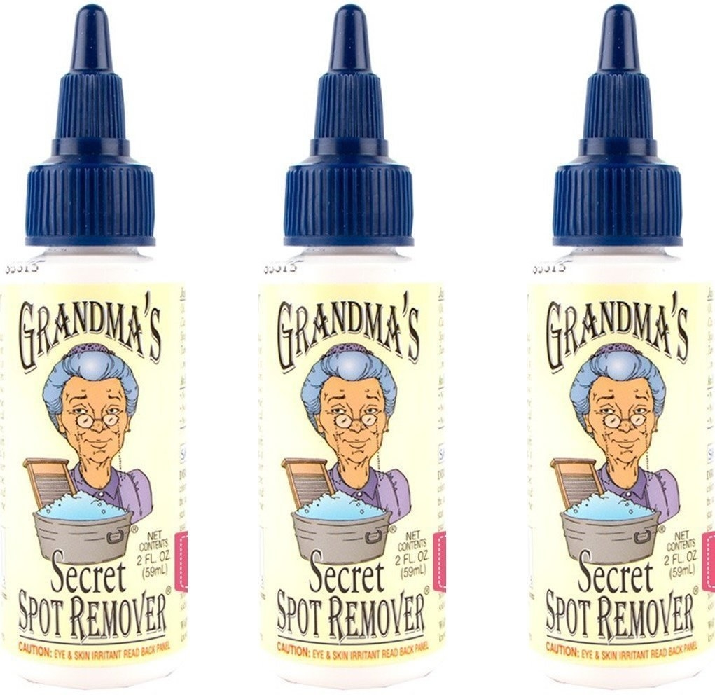 three bottles of the spot remover