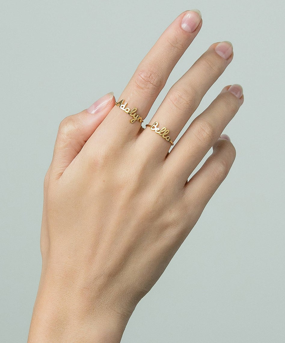 *Your children, siblings, parents, or friends could also be a good option. Just make a note with your order to specify what you'd like your ring to say! Get it from Grace Personalized on Etsy for $28 (originally $35, available in three colors).