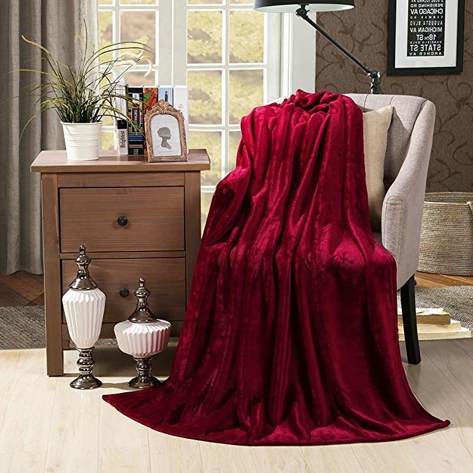 The red blanket over a chair