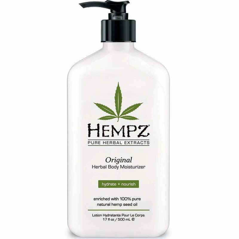 "Promising review: ""I have been buying Hempz for years and absolutely love it. My skin can be dry since I have gotten older, so I use lotion every day. My feet and hands used to crack, but when I use Hempz I don't have any dry skin problems."" —Frostie SueGet it from Amazon for $12.30."