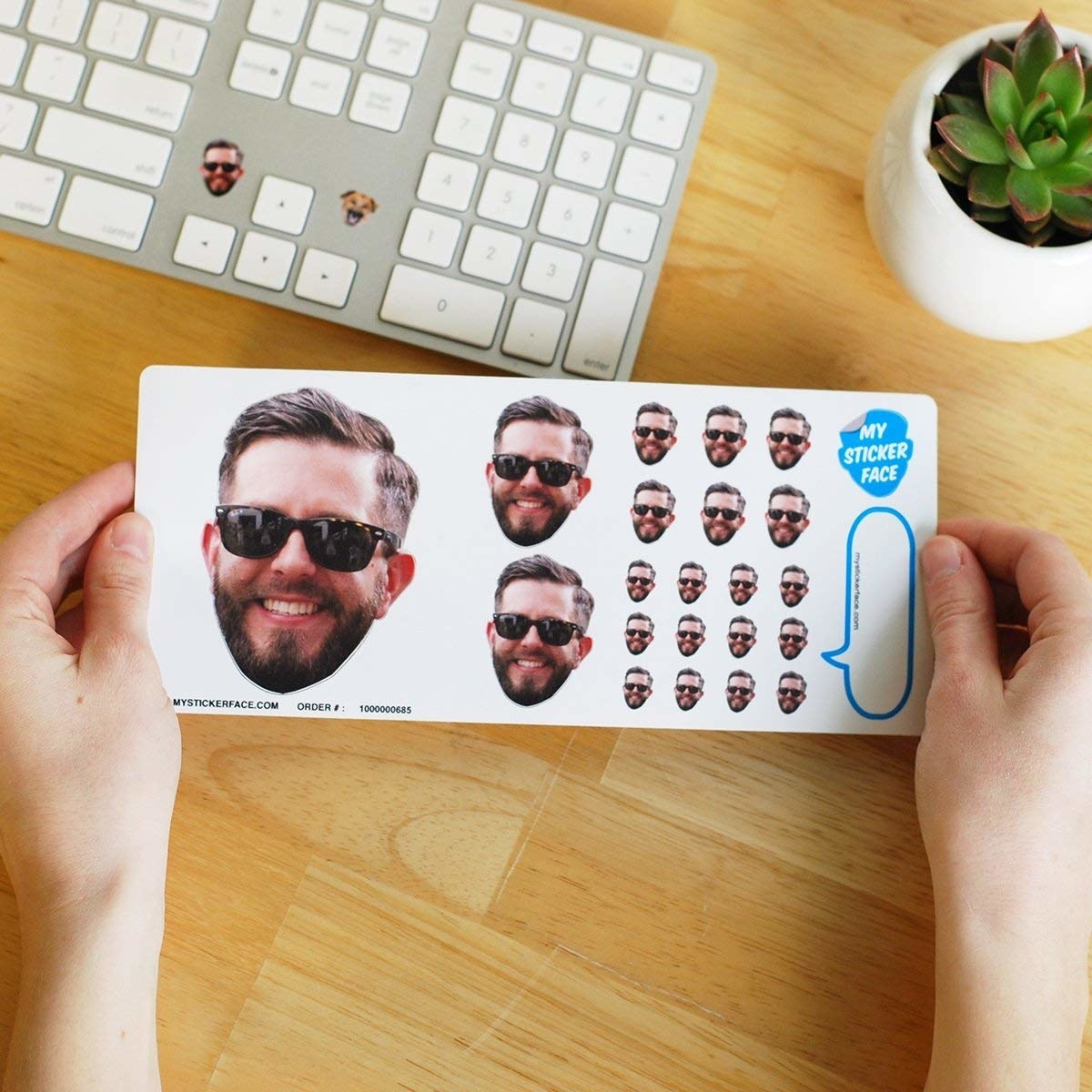 stickers that look like someone's face