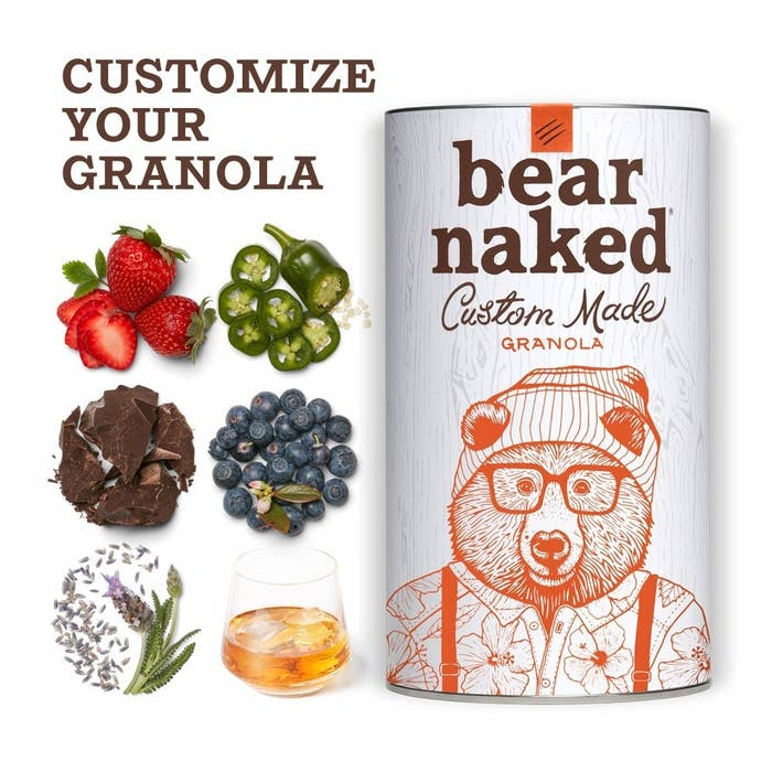 You can add all sorts of exciting mix-ins like lavender, dried jalapeno, dried raspberries, pale ale flavor, and more.Check out BuzzFeed's full write-up on this granola.Get it from Walmart for $12.98 (standard canister) or $14.98 (customized canister).