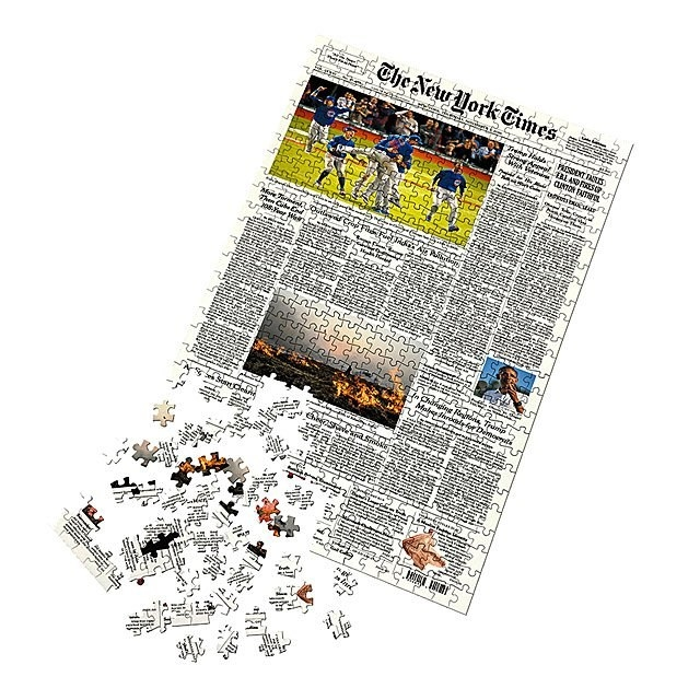 newspaper puzzle