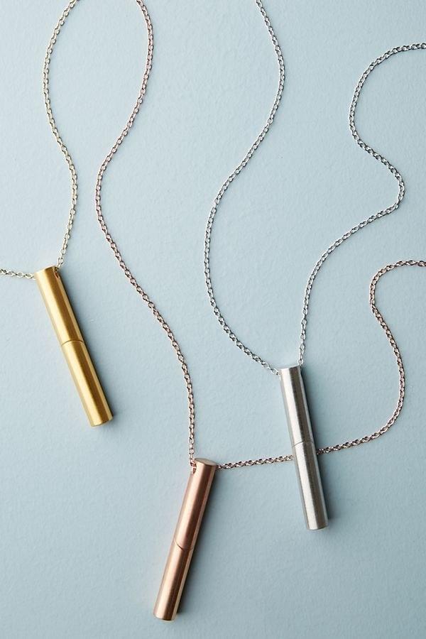 The three metallic necklaces
