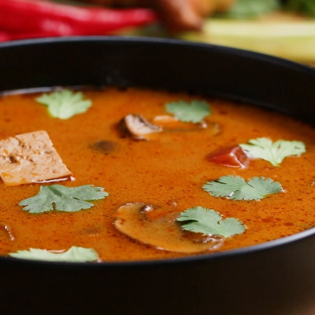 This recipe uses a homemade curry paste to make it intensely flavorful, but you can cheat and use a store-bought paste to save yourself some time. (Just make sure it's vegan.) Get the recipe.